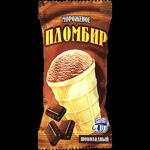 Мороженое пломбир шоколадный